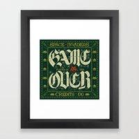 GAME OVER! Framed Art Print