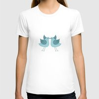 Birdee Womens Fitted Tee White SMALL