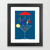 Cocktail Framed Art Print
