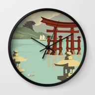 Kaiju Travel Poster Wall Clock