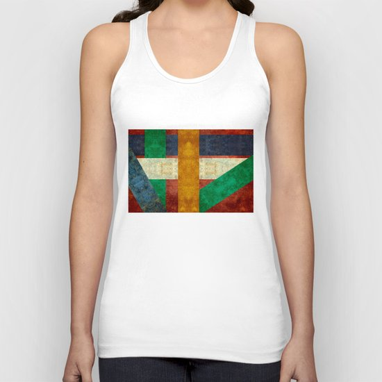 New age Totem poles pattern Unisex Tank Top