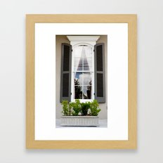 New Orleans Window Framed Art Print