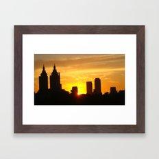 Sunset Over Manhattan  Framed Art Print