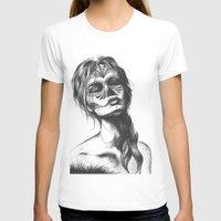 sugar skull T-shirts featuring Sugar Skull by Lena Safaniouk