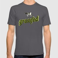 Grassfed Mens Fitted Tee Asphalt SMALL