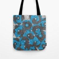 In Bloom (blue & Grey) Tote Bag