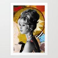 Golden Brigitte Bardot  … Art Print