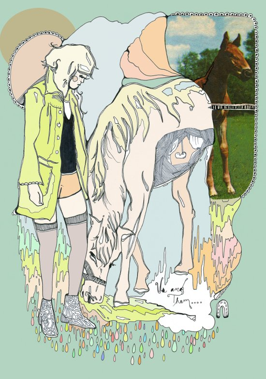 Us and Them: candy (horses) Art Print