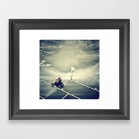 Riding On Paint Framed Art Print