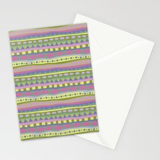 Stripey-Fairytale Colors Stationery Cards
