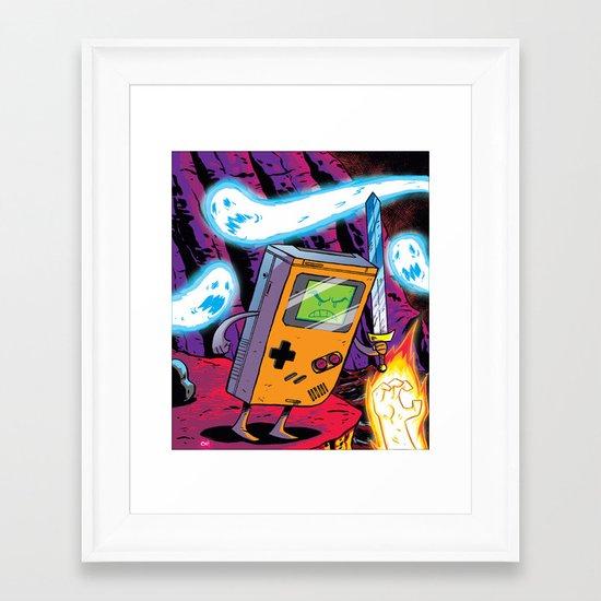 The Legend of Gameboy Framed Art Print