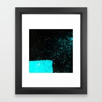 Black & Blue Framed Art Print