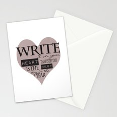 Write It On Your Heart Design Stationery Cards