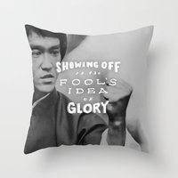 Bruce Says: Showing Off Throw Pillow