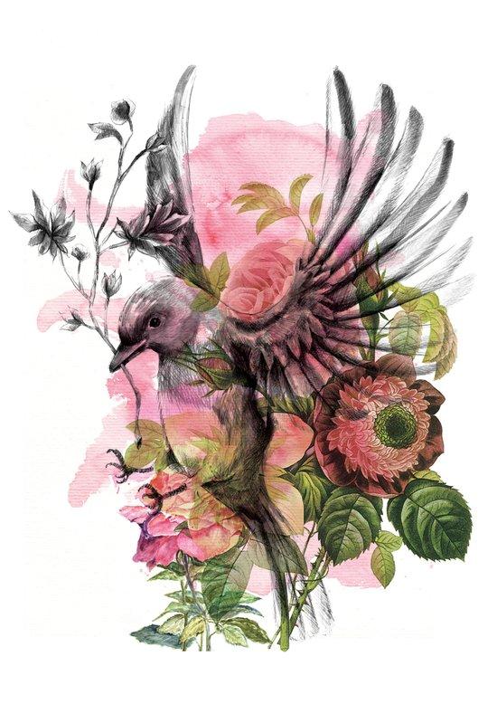 BYE BIRDIE Art Print