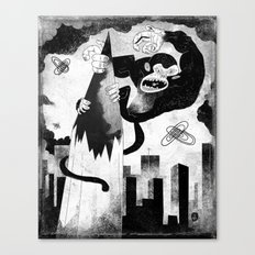 King Kong Sized Writer's Block Canvas Print