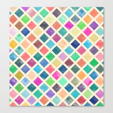 Watercolor geometric pattern Canvas Print