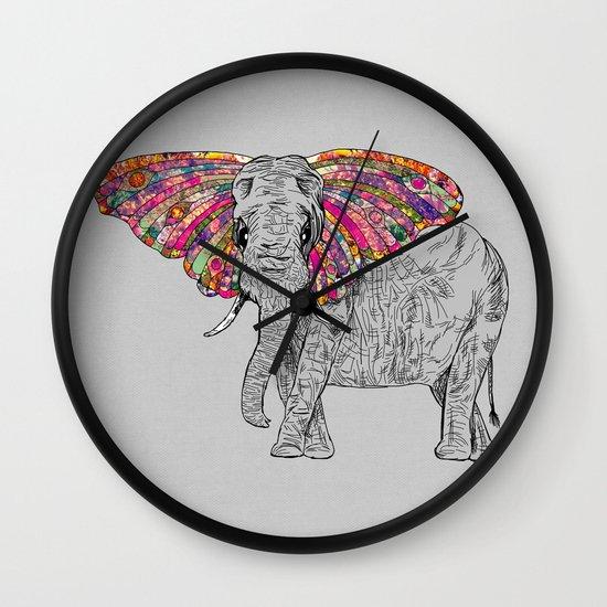 Bella The Happy Butterphant Wall Clock