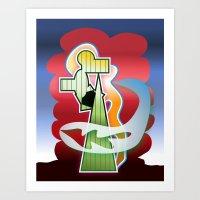 Abstract Design 7751 Art Print