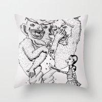 Box-O-Trolls Throw Pillow