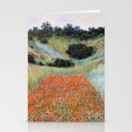 Poppy Field In A Hollow … Stationery Cards