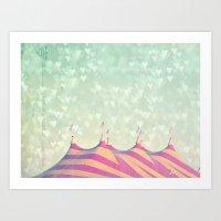 Circus Big Top Art Print