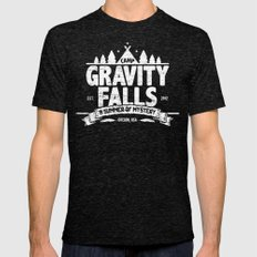 Camp Gravity Falls  Mens Fitted Tee Tri-Black SMALL