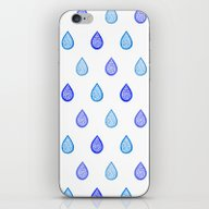 Blue Raindrops iPhone & iPod Skin