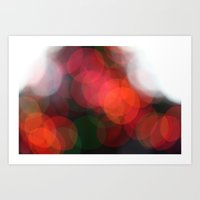 Christmas Lights Bokah  Art Print