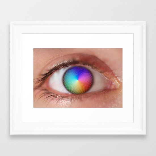 I see all the Colors - Geometric Pantone Eye Vision Framed Art Print