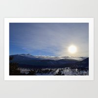 Rolling Clouds Over the Rockies Art Print