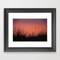 The Orange Sky. Framed Art Print