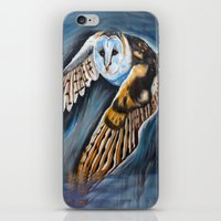 Night Owl In Flight iPhone & iPod Skin