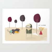Don't Go Daddy! Art Print