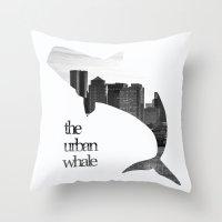 The Urban Whale Throw Pillow