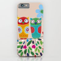 owls iPhone & iPod Cases featuring owls by Marianna Jagoda
