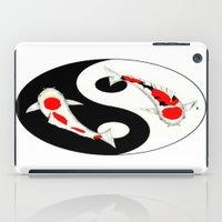 Koi Kohaku and Taisho Sanke Yin Yang iPad Case