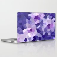 Abstract Floral In Blue … Laptop & iPad Skin