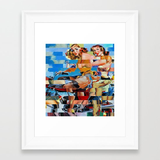 Glitch Pin-Up: Zelda & Zoe Framed Art Print