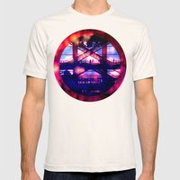 Escalator in the Sky Mens Fitted Tee Natural SMALL