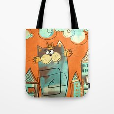 Retro Cat Tote Bag