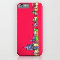 Sketchy Town in pink iPhone 6 Slim Case