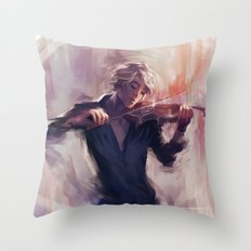 Violin and James Carstairs Throw Pillow