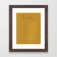 The Chap Remembers Sunny Days Framed Art Print