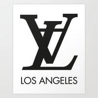 LA Los Angeles Art Print