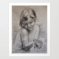 The Fairy And The Frog Art Print
