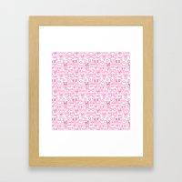 bows pink Framed Art Print