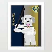 Hank The Dog Is At The P… Art Print