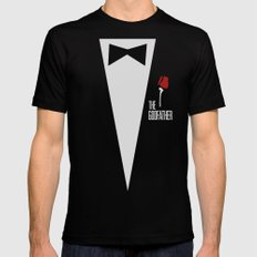 The Godfather - Minimalist Poster 01 Mens Fitted Tee Black SMALL