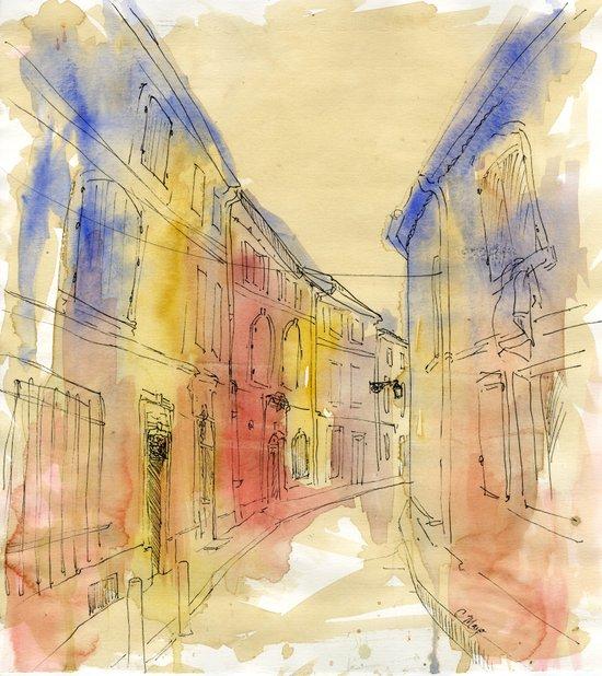 Streets of France Art Print